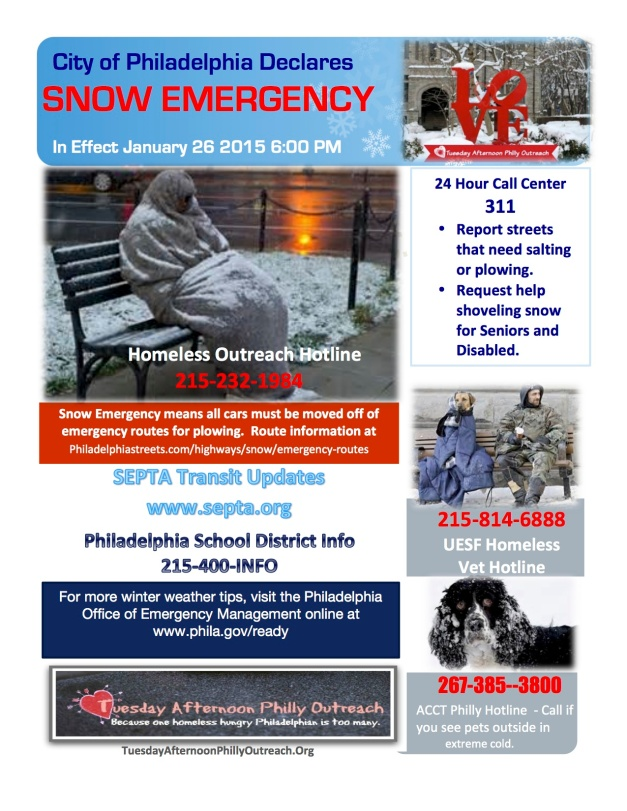 snow emergency flyer