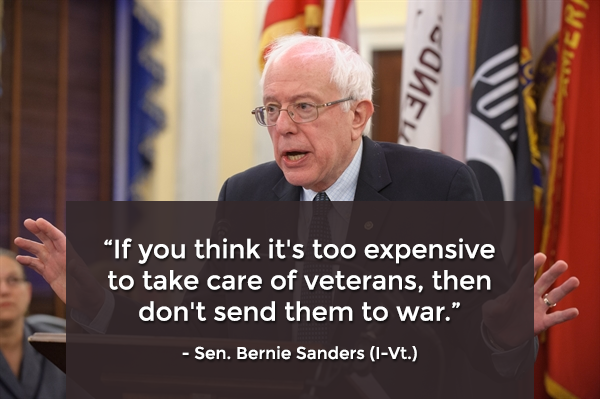 Too expensive to take care of vets? Then don't send them to war.