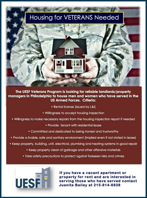 Housing for Vets Needed